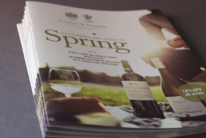 wine brochure design agency