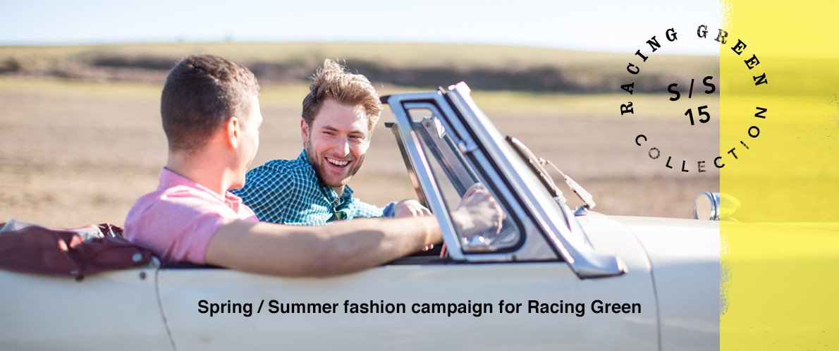 Racing Green Spring / Summer 15 fashion campaign