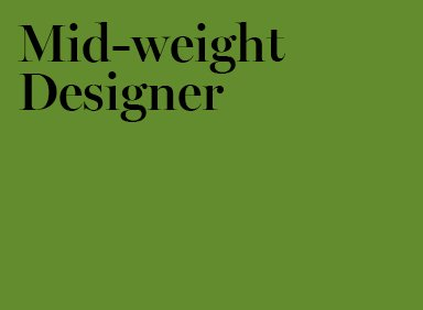 Job Mid Weight Designer Spinach London
