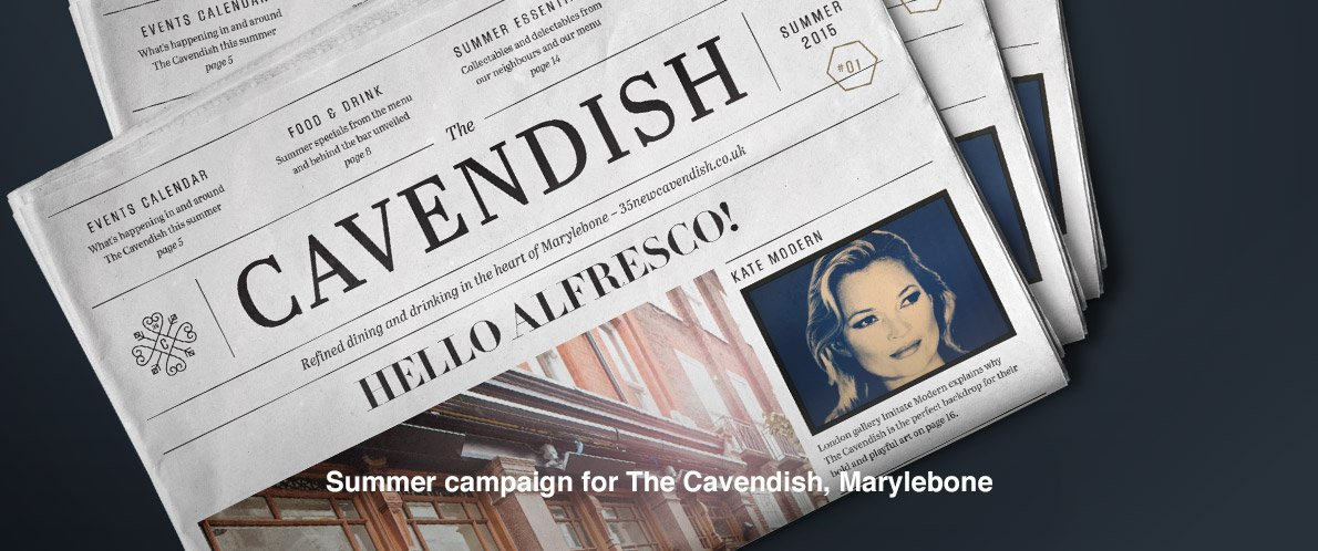 Summer campaign for The Cavendish, Marylebone