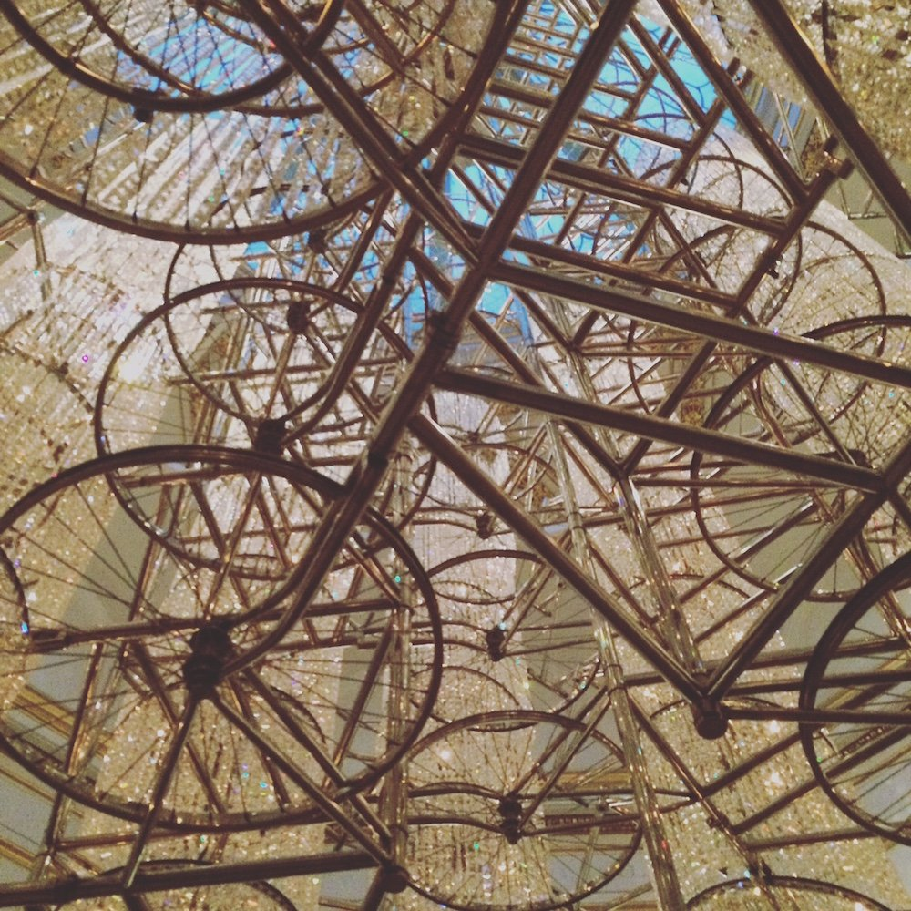 Ai Weiwei's Bicycle Chandelier 2015