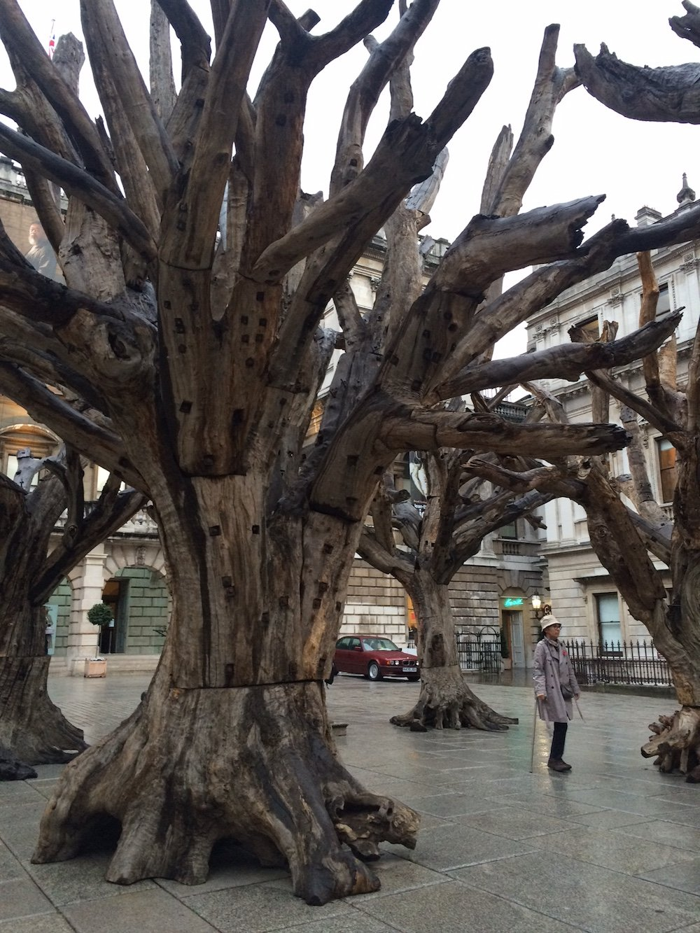 Ai Weiwei outside the Royal Academy of Arts London