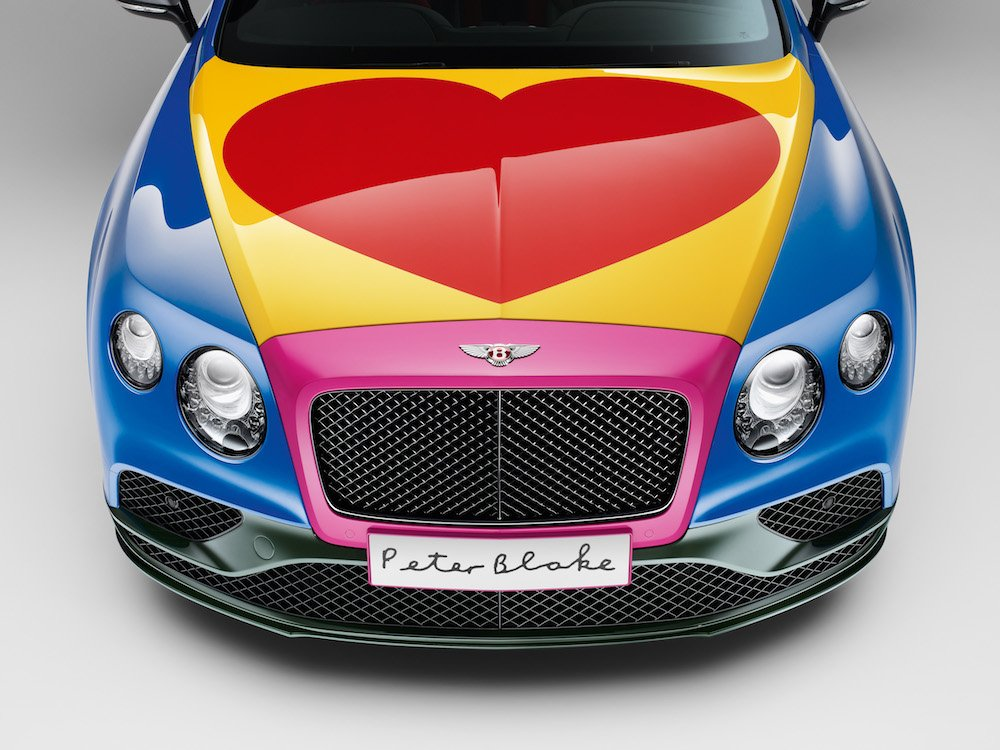 Bentley pop art car by Sir Peter Blake