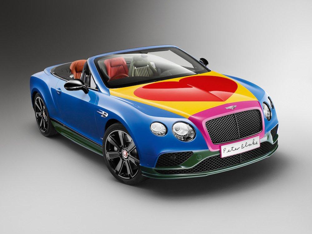 Bentley pop art car by Sir Peter Blake
