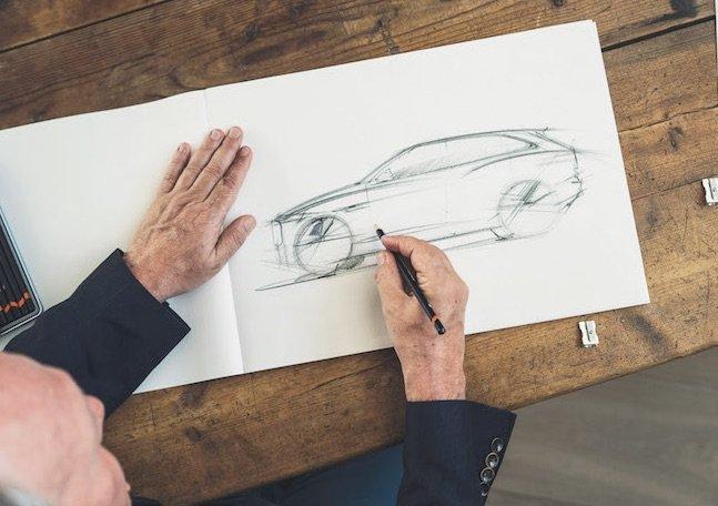 Ian Callum sketching Jaguars