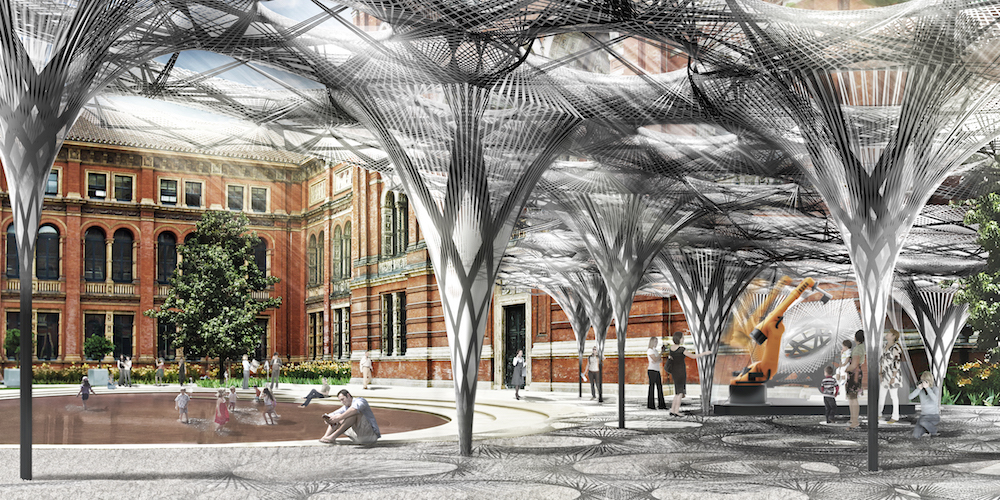 Elytra Filament Pavilion by Thomas Auer, Moritz Dörstelmann, Jan Knippers and Achim Menges, John Madejski Garden © London Design Festival 2016, 17 – 25 September, londondesignfestival.com