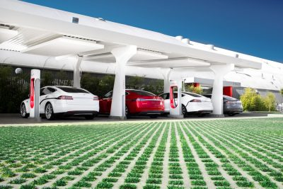 Tesla Supercharger photo © Alexis Georgeson