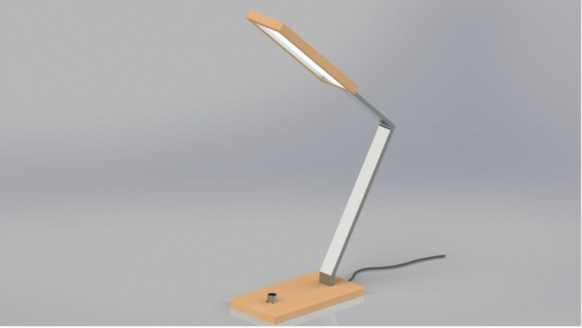 Table lamp designed by Nottingham Trent University according to consumer trends on social media