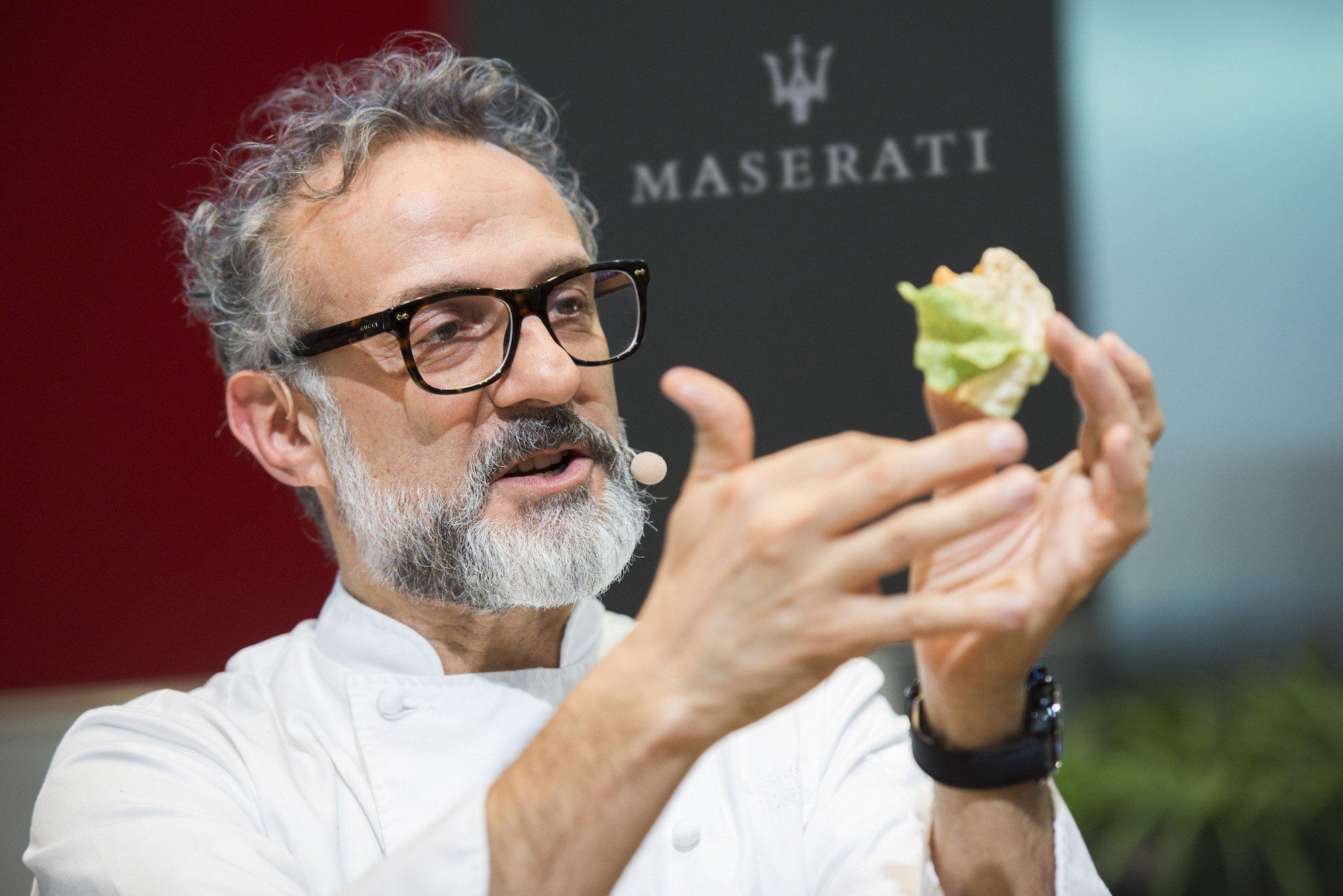Massimo Bottura head chef at Modena's Osteria Francescana