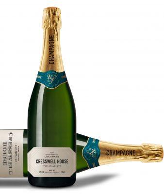 New logo design by Spinach for Rupert Forsythe Bespoke Champagne
