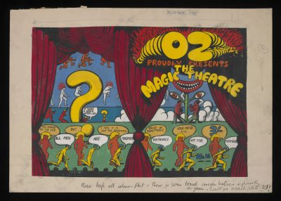 Cover artwork by Martin Sharp for Oz #16 - The Magic Theatre Issue, November 1968 ©Estate of Martin Sharp