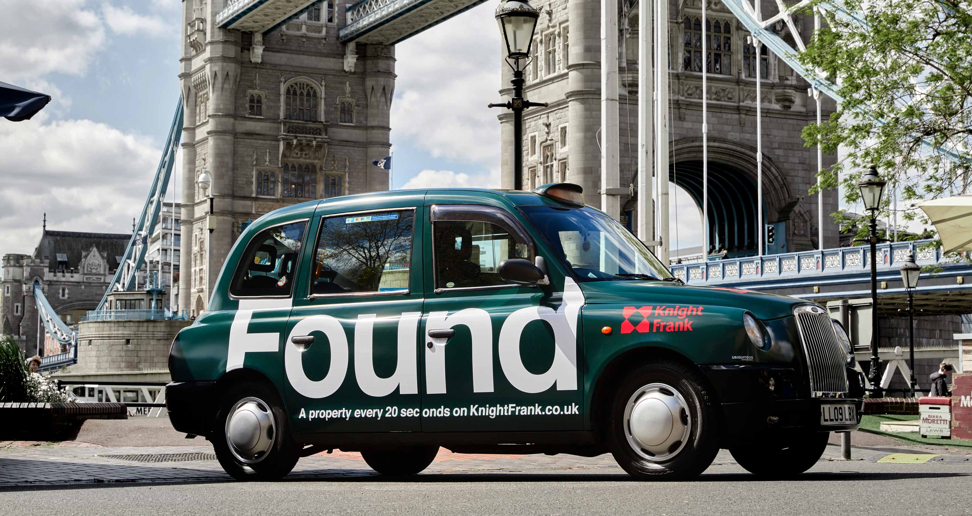 Knight Frank Taxi Advertising by Spinach Branding Agency in London, 2017