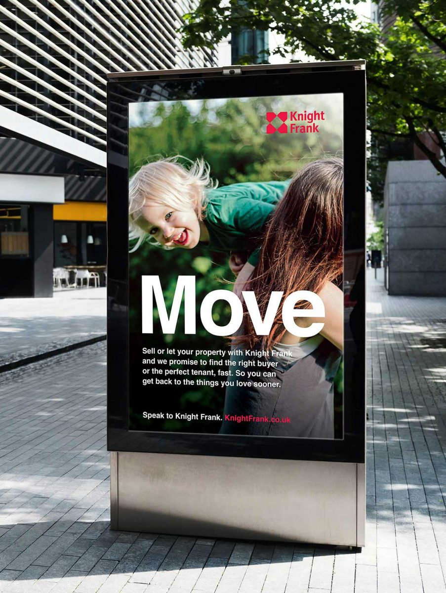 Knight Frank Advertising by Spinach Design in London