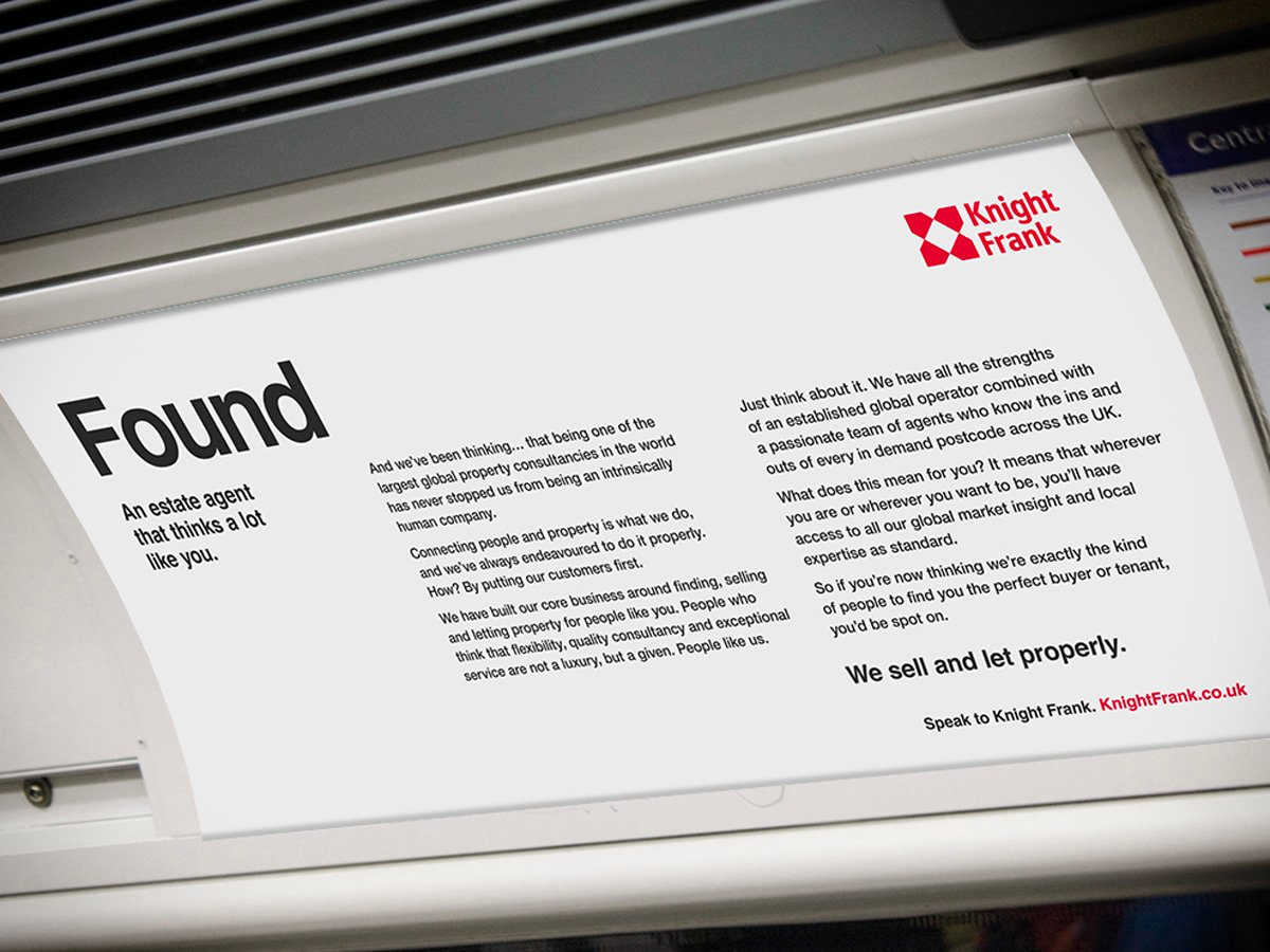 Spinach campaign identity for Knight Frank