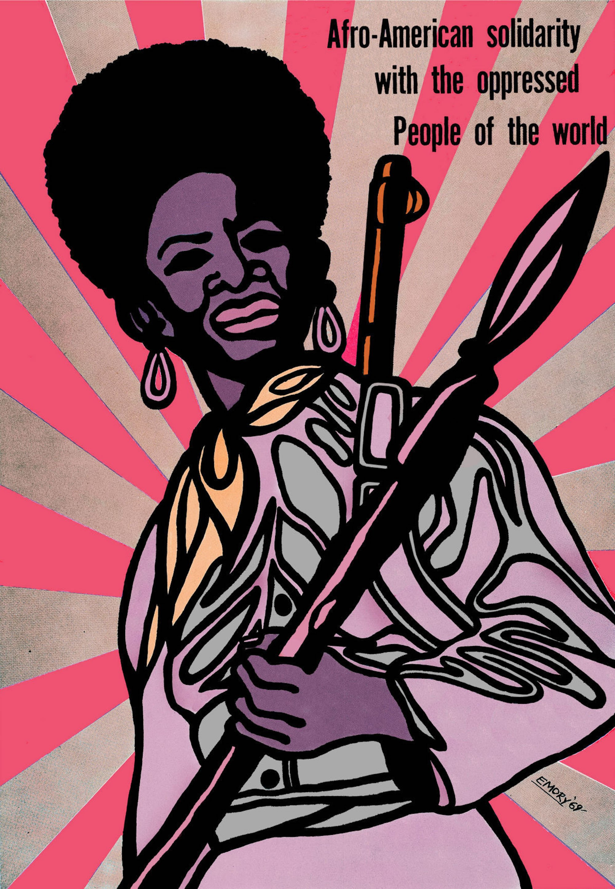 Emory Douglas, Afro-American Solidarity with the oppressed people of the world