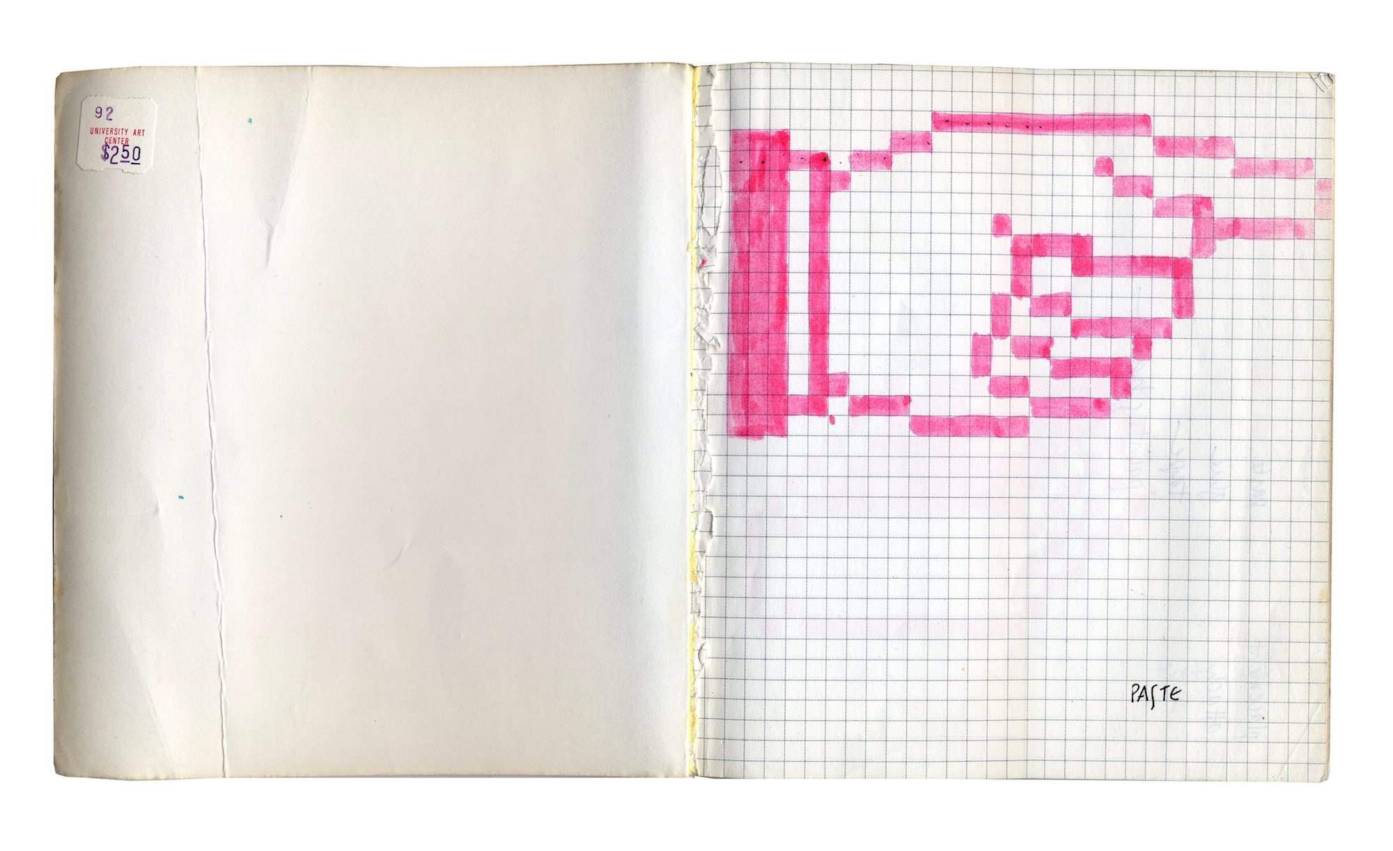Susan Kare notebook © kareprints.com