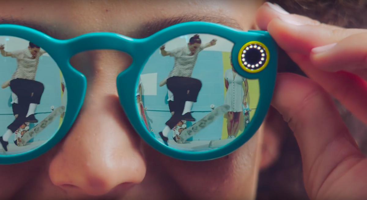 Spectacles with in-built camera by Snap Inc, Snapchat's parent company