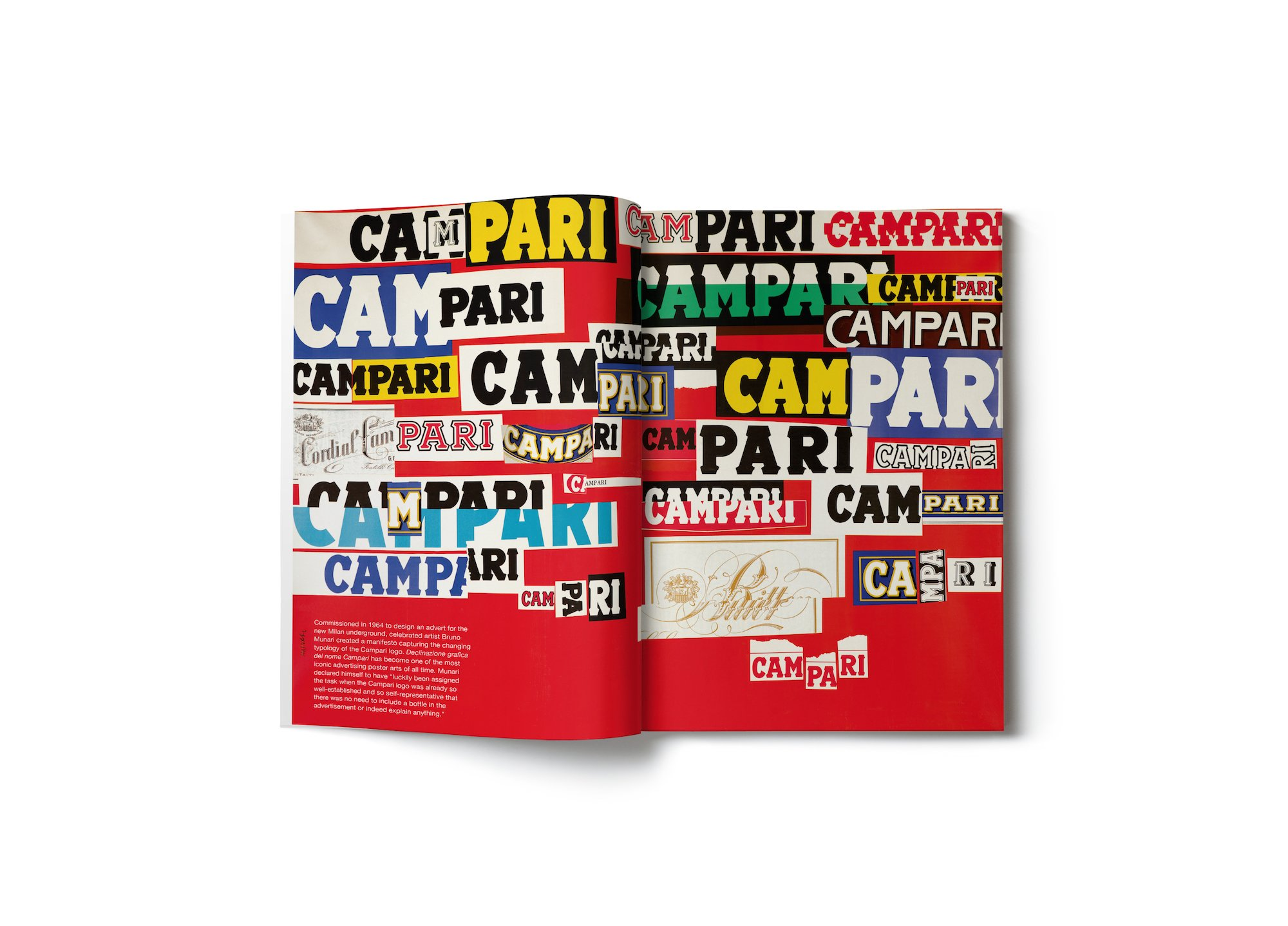 'Declinazione Grafica del Nome Campari' by Bruno Munari for the new Milan underground, 1964 © Campari and MoMA