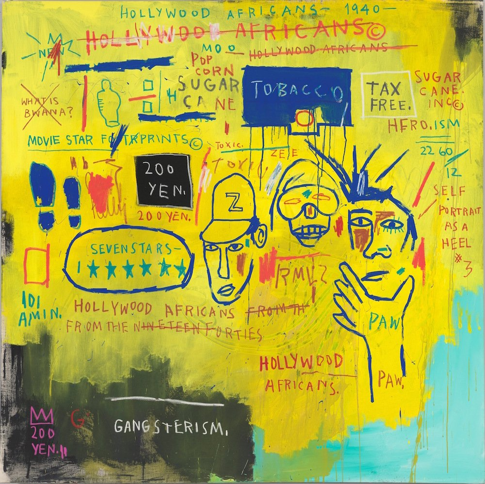 ean-Michel Basquiat, Hollywood Africans, 1983. Courtesy Whitney Museum of American Art, New York © Estate of Jean-Michel Basquiat/ Artists Rights Society (ARS), New York/ ADAGP, Paris. Licensed by Artestar, NY