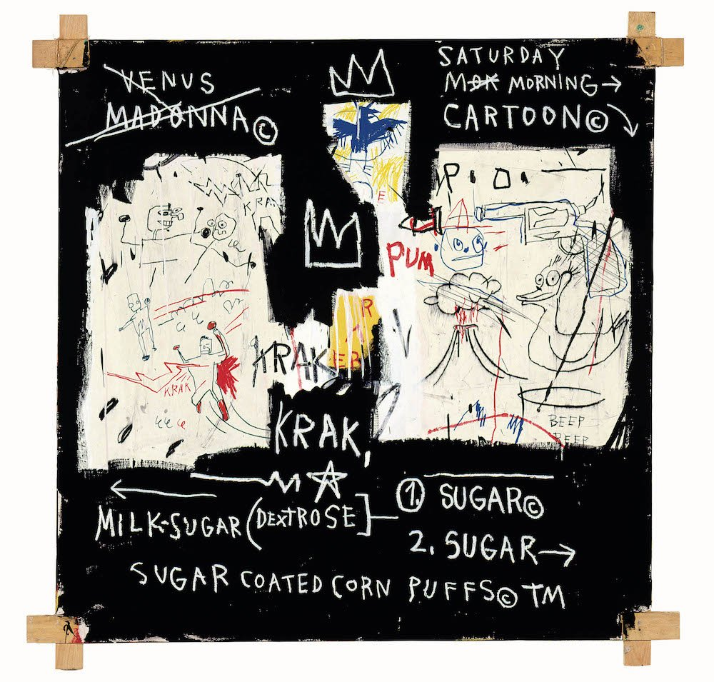 Jean-Michel Basquiat, A Panel of Experts, 1982. Courtesy The Montreal Museum of Fine Arts. © Estate of Jean-Michel Basquiat. Licensed by Artestar, NY. Photo: MFA, Douglas M. Parker