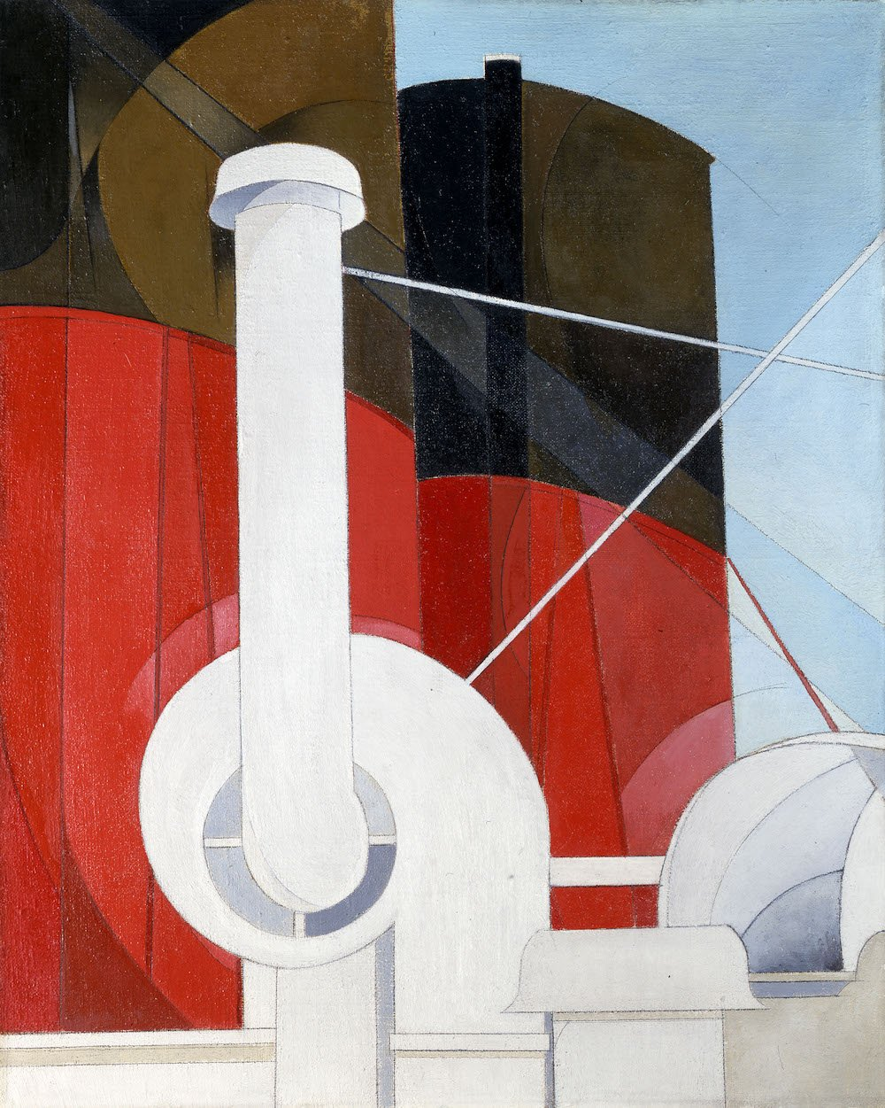 Paquebot 'Paris', Charles Demuth, 1921 – 22, US. Gift of Ferdinand Howald. © Columbus Museum of Art, Ohio