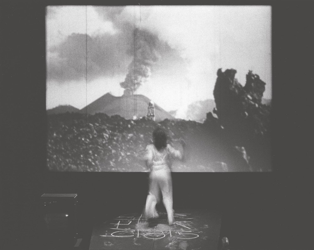 Joan Jonas, Mirage, 1976, performance, University Art Museum, University of California, Berkeley, 1980