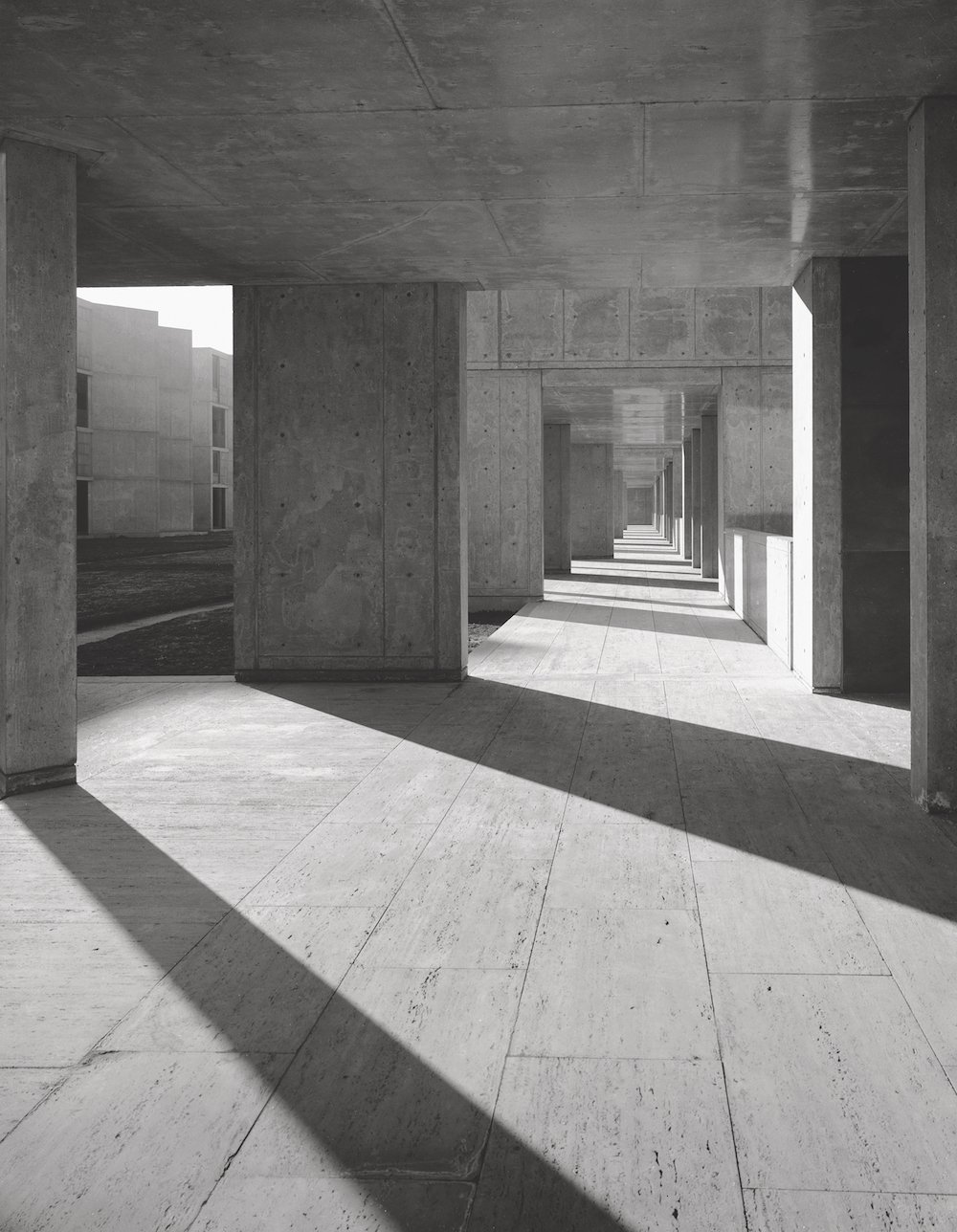 Louis Kahn Salk Institute, La Jolla, 1963. Picture © courtesy of the Estate of Marvin Rand