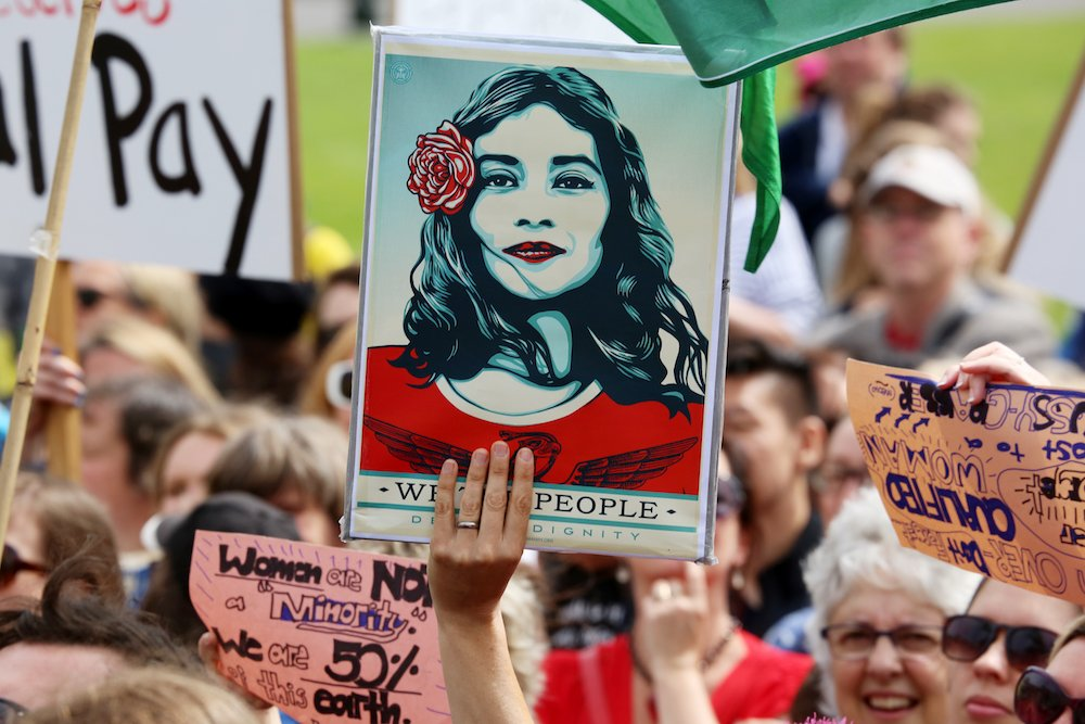 Women's March, Wellington, NZ. Image © Andy McArthur