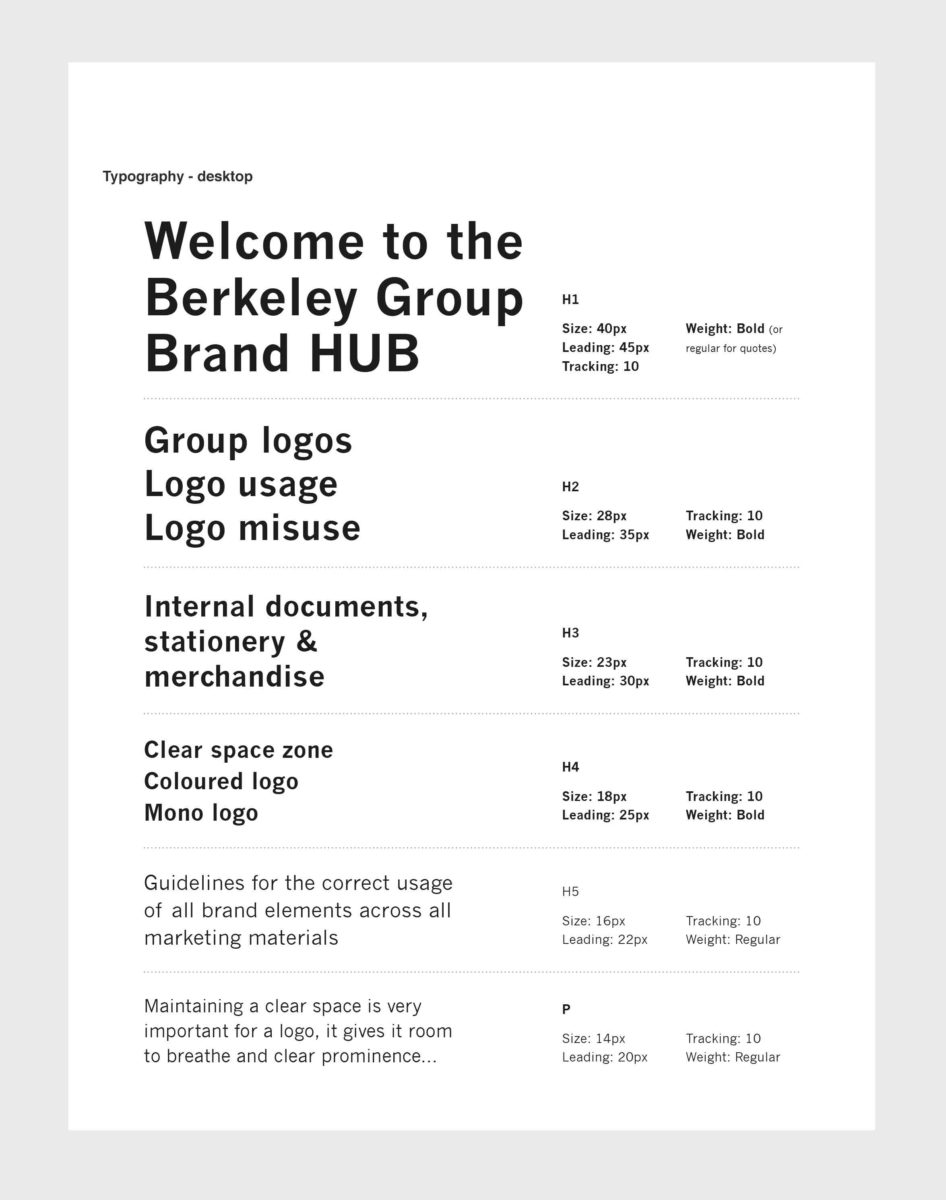 Online brand hub for the Berkeley Group by Spinach