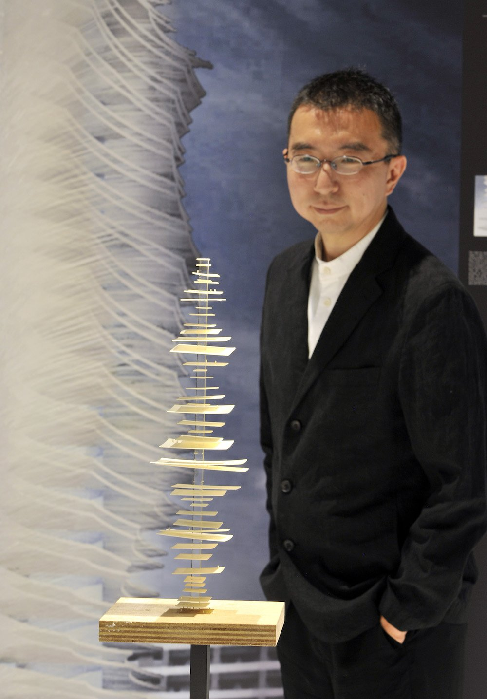 Sou Fujimoto at Japan House London. Photo credit Adrian Brooks/Imagewise