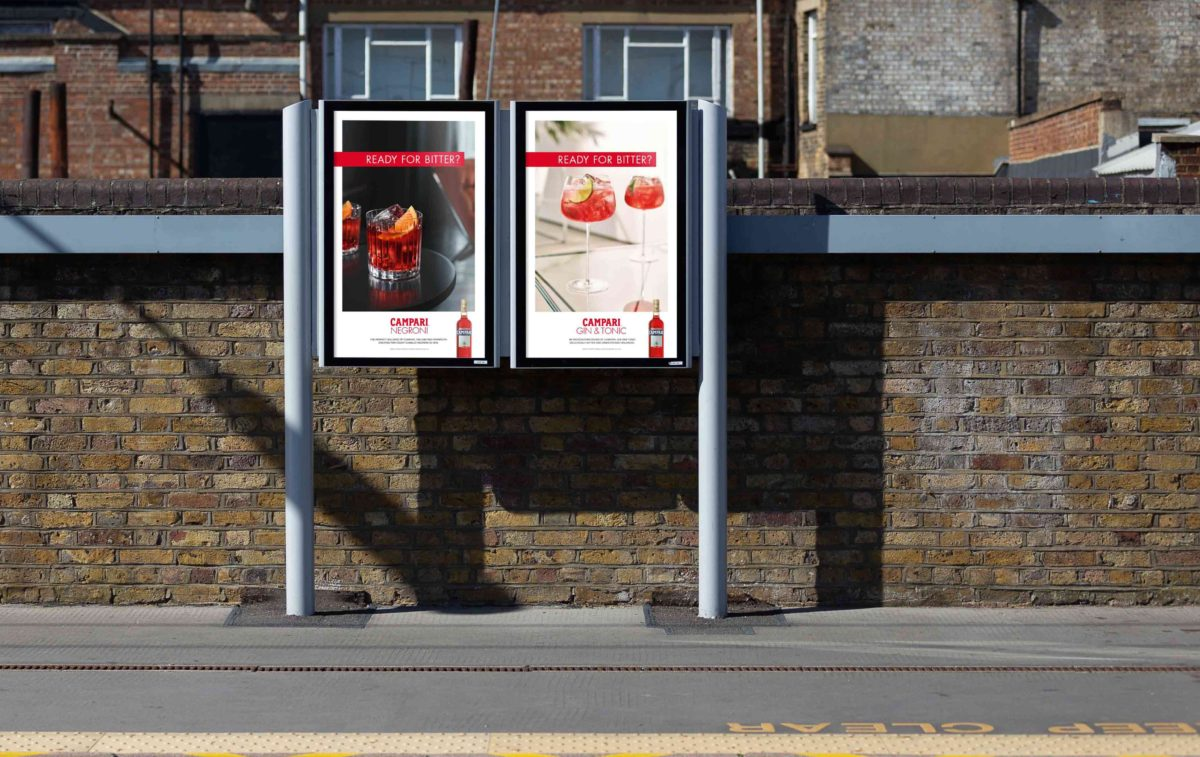 Ready for Bitter? ad campaign by Spinach Branding (spinachbranding.com) for Campari UK