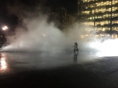 Fujiko Nakaya's fog sculpture at BMW Tate Live