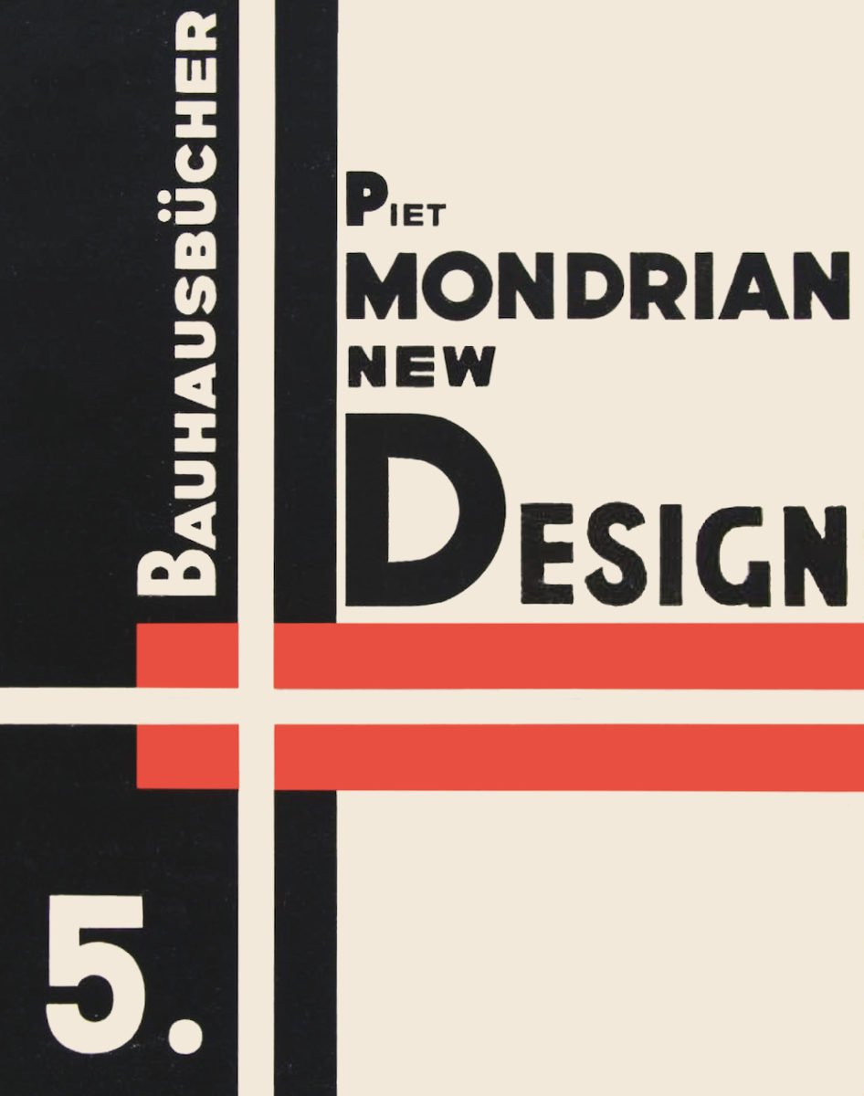 'New Design' by Piet Mondrian, Bauhausbücher edited by Lars Müller