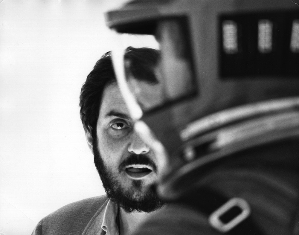 Stanley Kubrick on set of 2001 A Space Odyssey