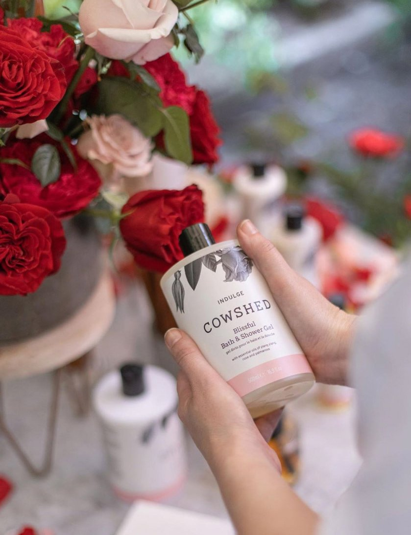 Cowshed beauty and wellness products by Spinach Branding