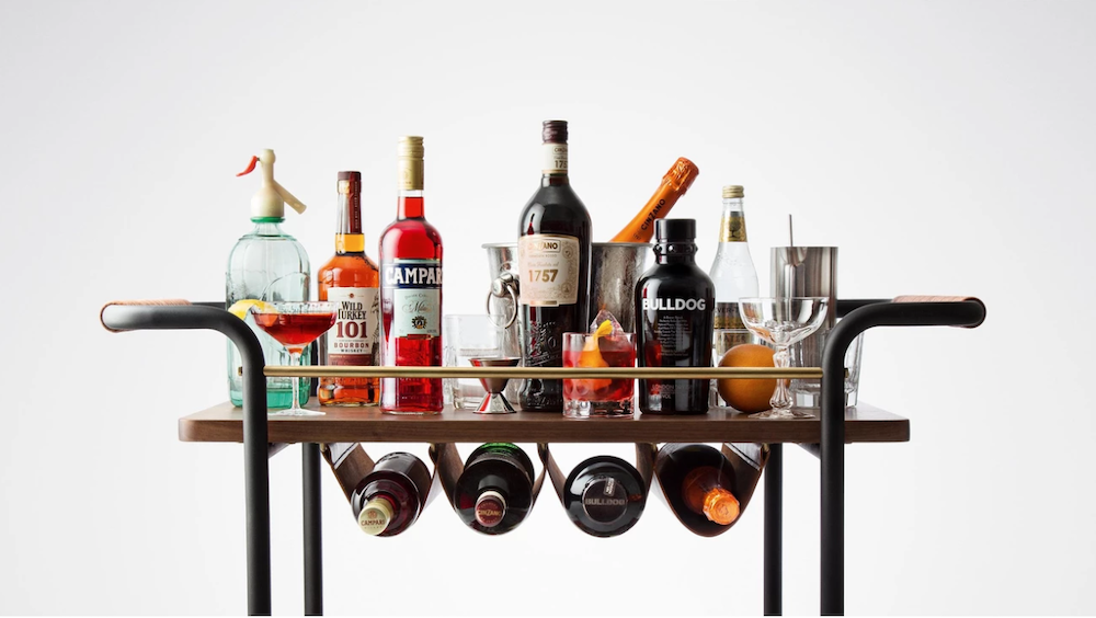 Stellar Works Valet Bar Cart
