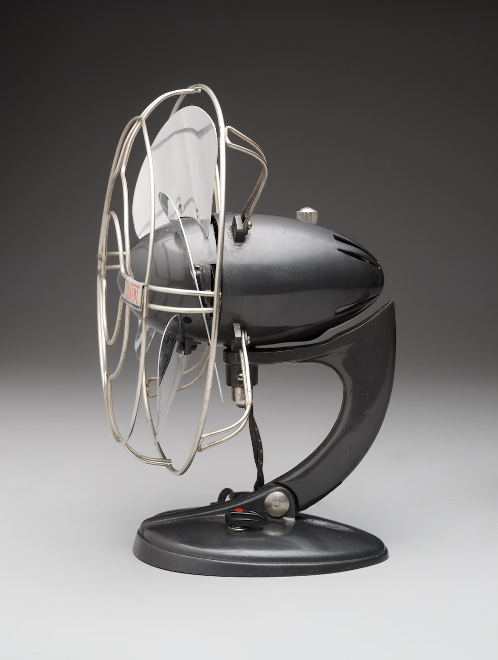 Automotive design fed into products such as the A.C. Gilbert Co. 'Airflow' Table Fan, 1937