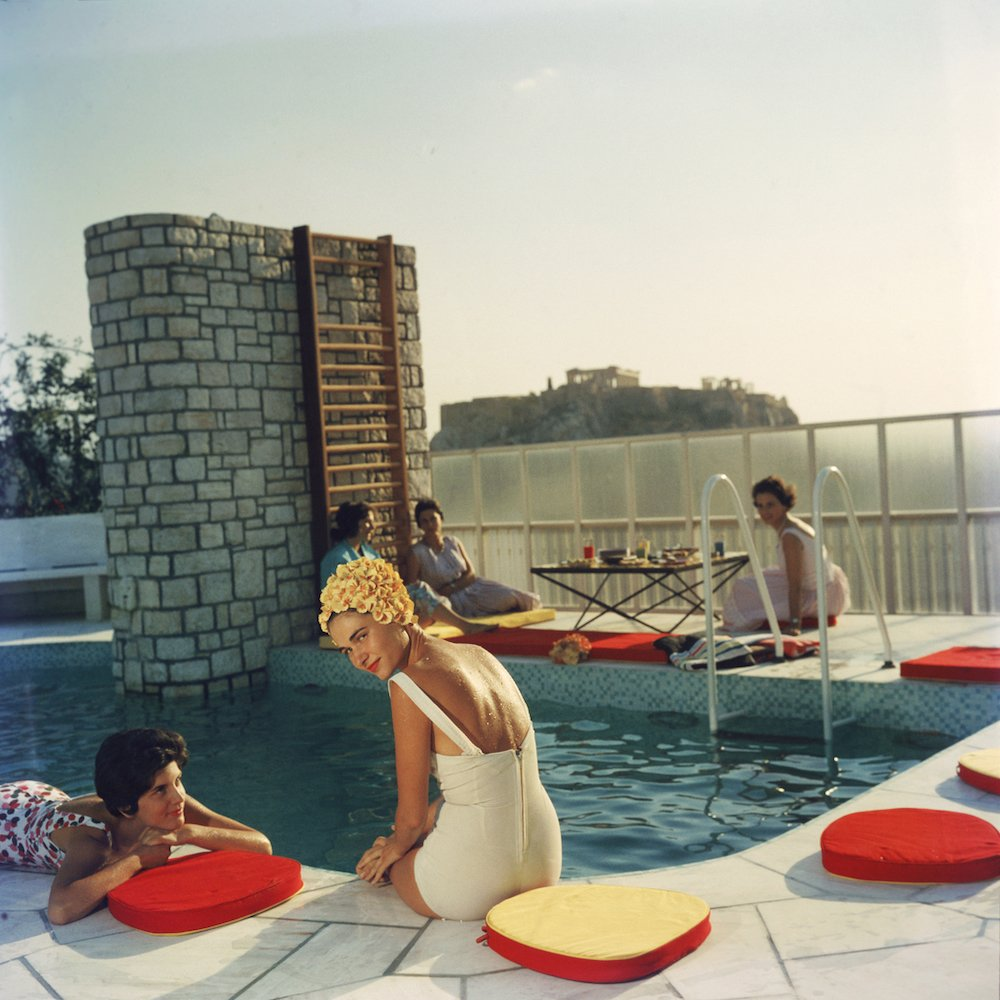 Penthouse Pool, Slim Aarons Spinach