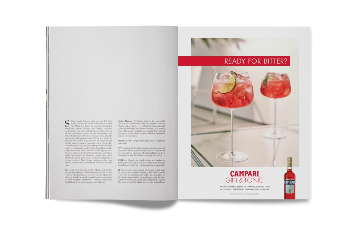'Ready for Bitter?' ad for Campari, 2020 © Spinach Branding