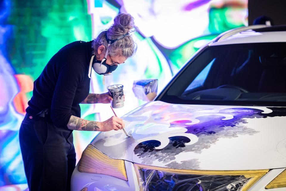 Lexus UX SUV Tattoo car, by London tattoo artist Claudia De Sabe