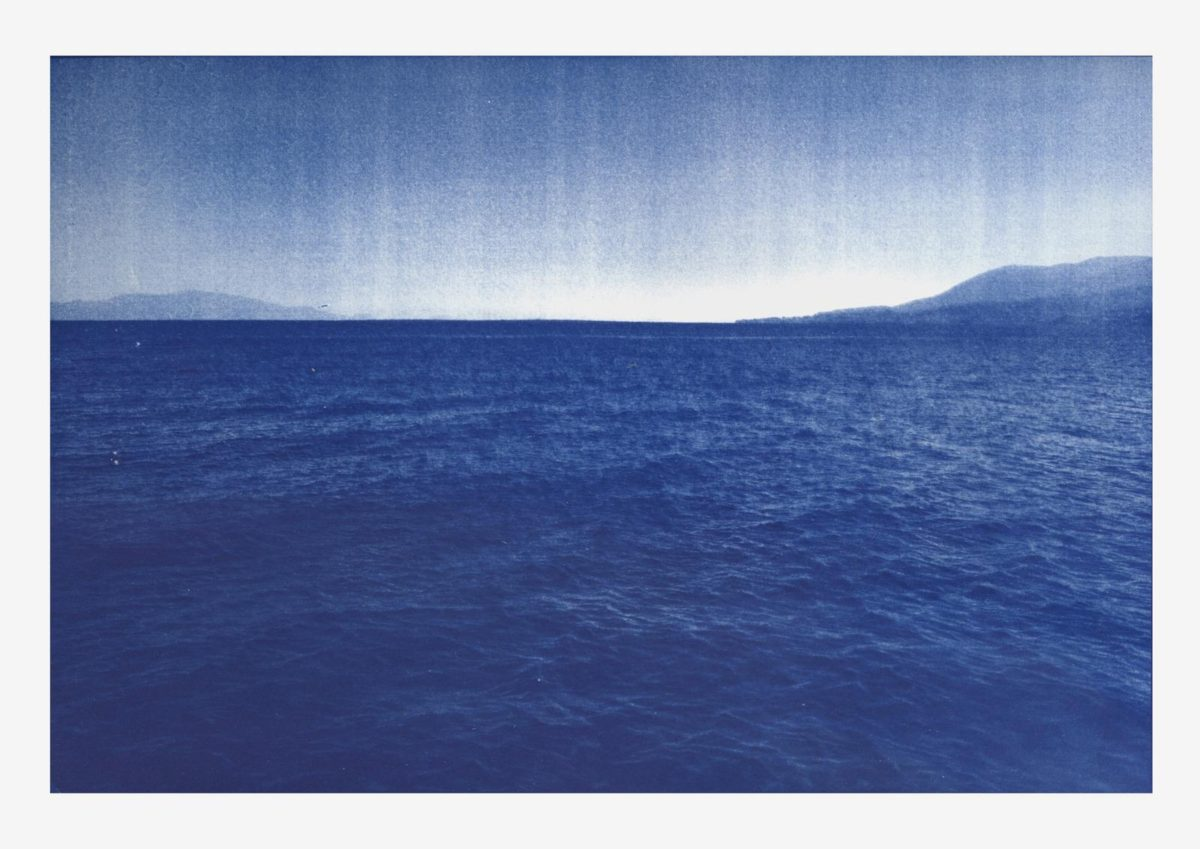 Emeric Lhuisset's 'L'autre rive' for Paris Photo 2019 concludes with a series of fading blue renderings through cyanotype to show the disappearance of civilizations © Emeric Lhuisset