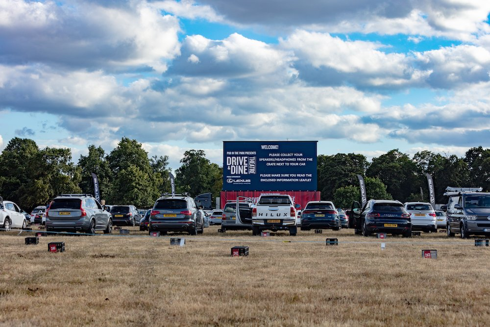Drive and Dine drive-in cinema pop-up Syon Park
