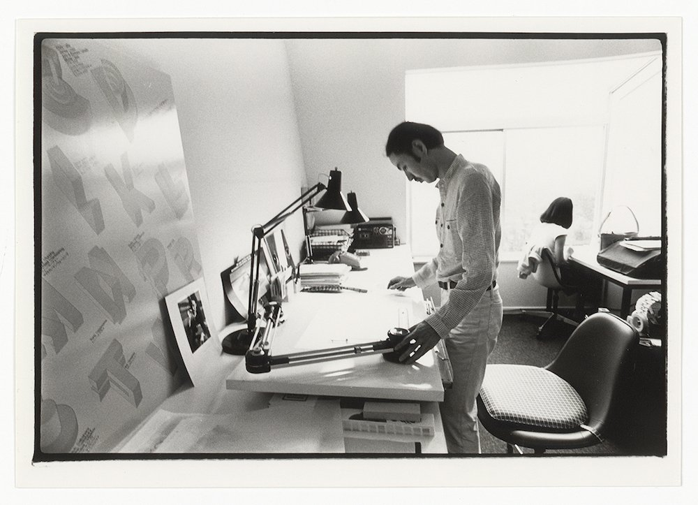 Takenobu Igarashi in 1980 at his Tokyo Studio © Takenobu Igarashi