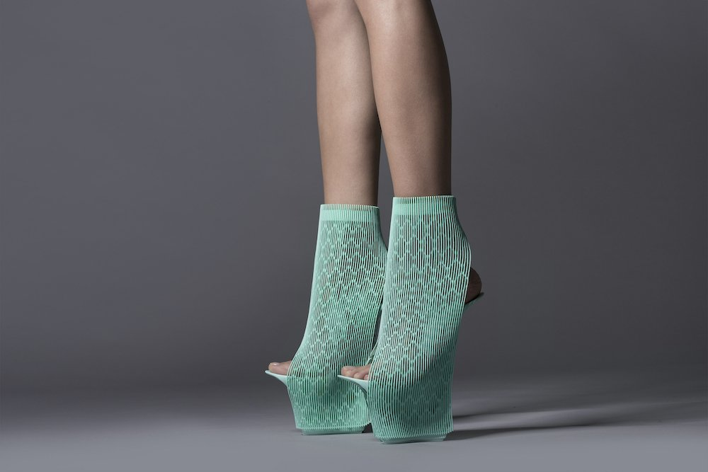 Ross Lovegrove 3D printed design for 'Re-Inventing Shoes' 2015 © Ross Lovegrove