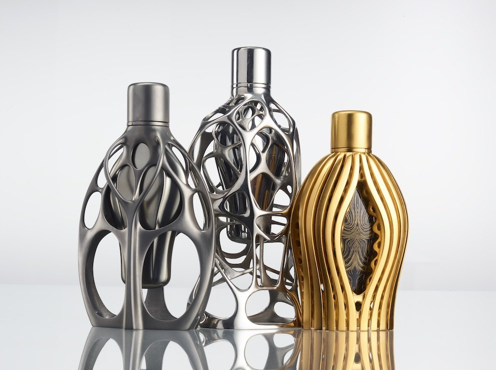 Ross Lovegrove perfume bottle trilogy for Designer Parfums and F1 © Ross Lovegrove