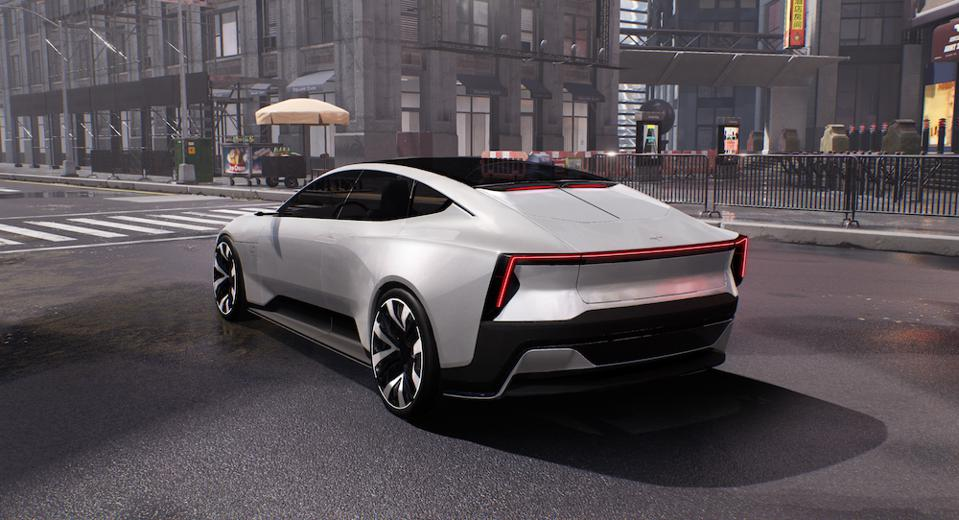 Polestar Precept concept car stars in Balenciaga's autumn/winter 2021 collection video game runway © Polestar