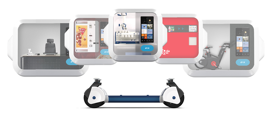 Pix self-moving spaces are based on a modular autonomous driving chassis © Pix Moving