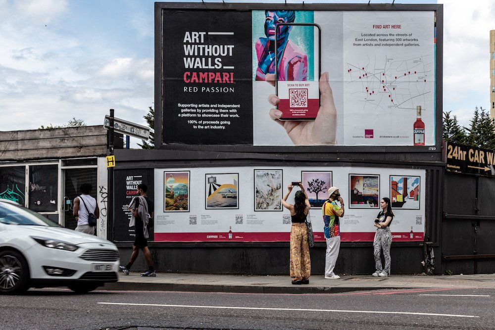 Campari 'Art Without Walls' June 2021 © Spinach Branding
