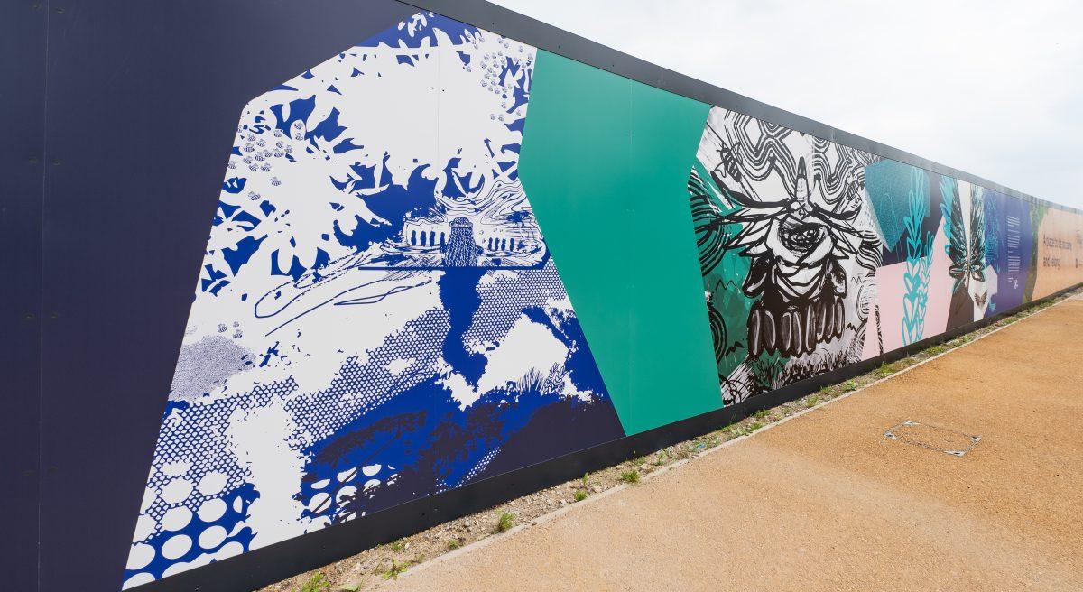 Emmanuel Oreyeni's artwork at Barking Riverside. Images © Jimmy Lee Photography for BRL