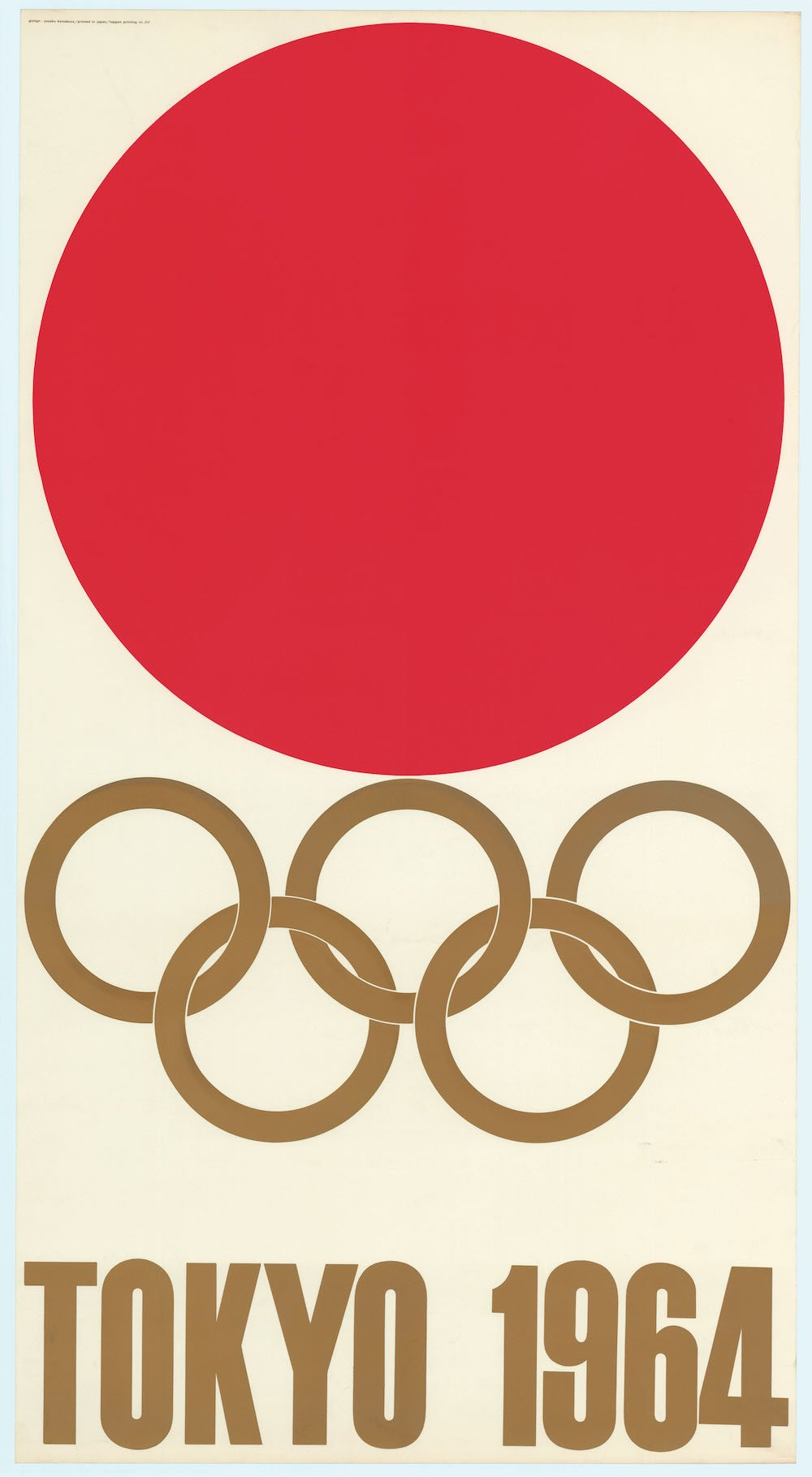 1964 Tokyo Olympics official poster_the hinomaru (sun) flag, Credit - Courtesy of Prince Chichibu Memorial Sports Museum
